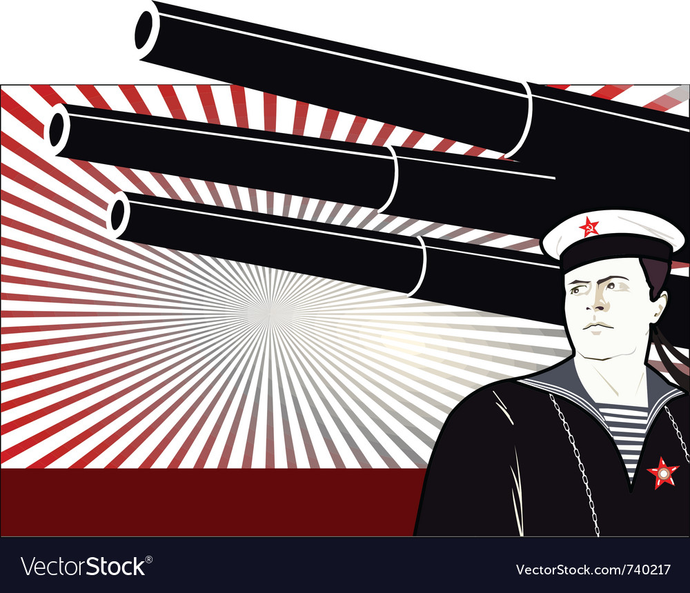 Russian sailor vector | Price: 1 Credit (USD $1)