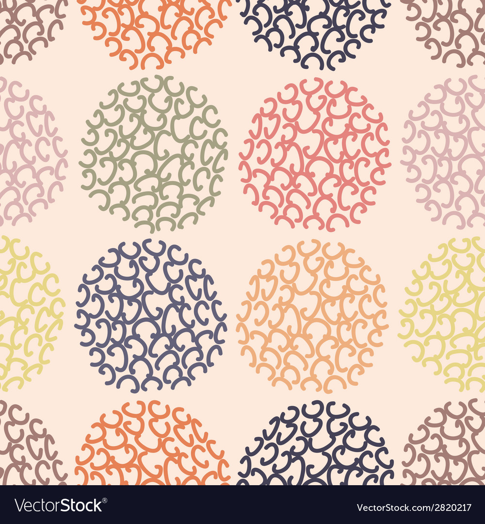 Seamless pattern polka dot doodle texture can be vector | Price: 1 Credit (USD $1)