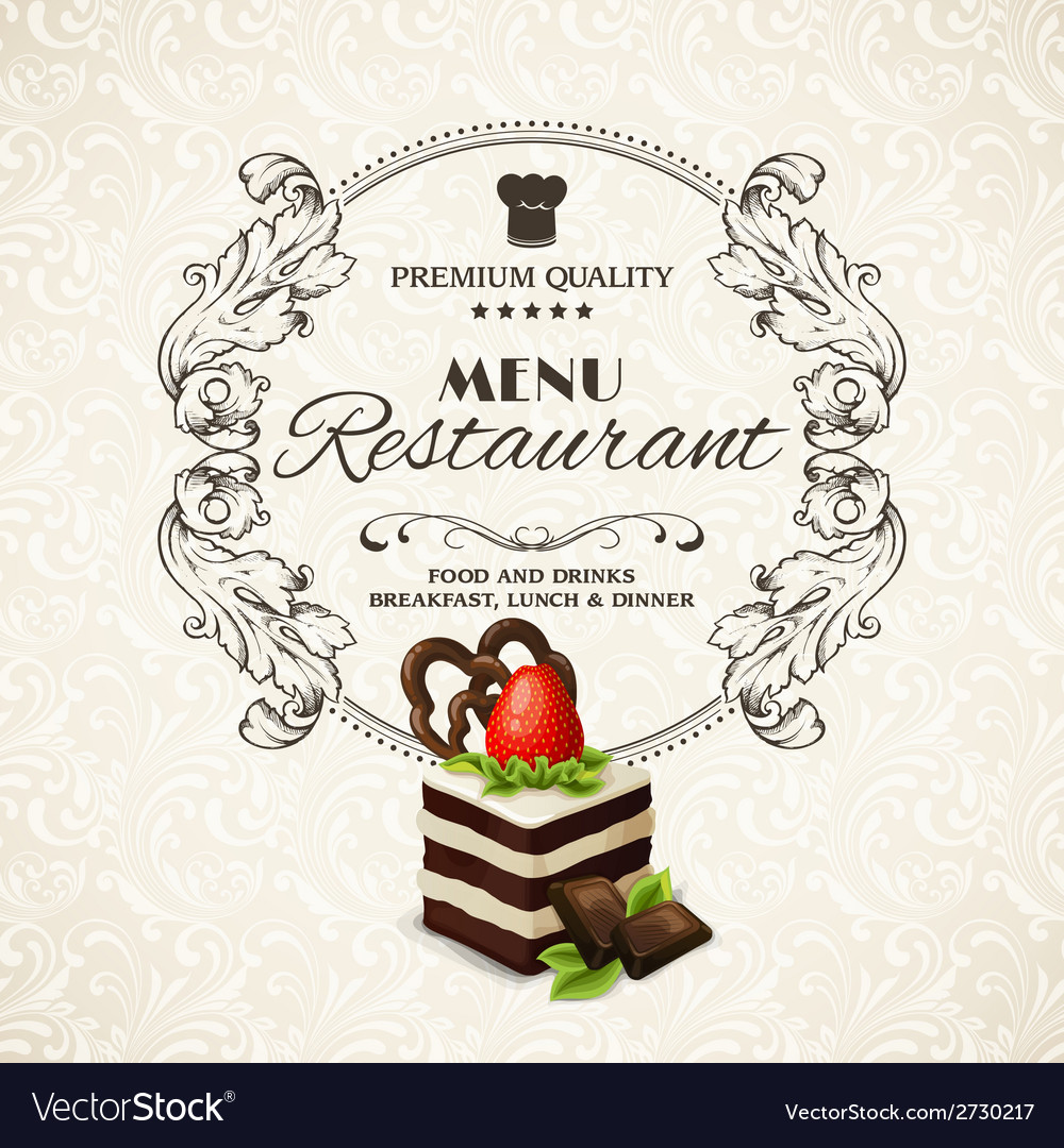 Sweets dessert restaurant menu vector | Price: 1 Credit (USD $1)