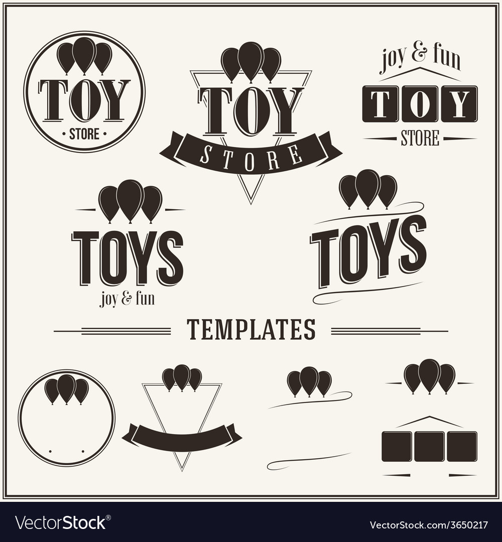 Vintage insignias and logotypes set vector | Price: 1 Credit (USD $1)