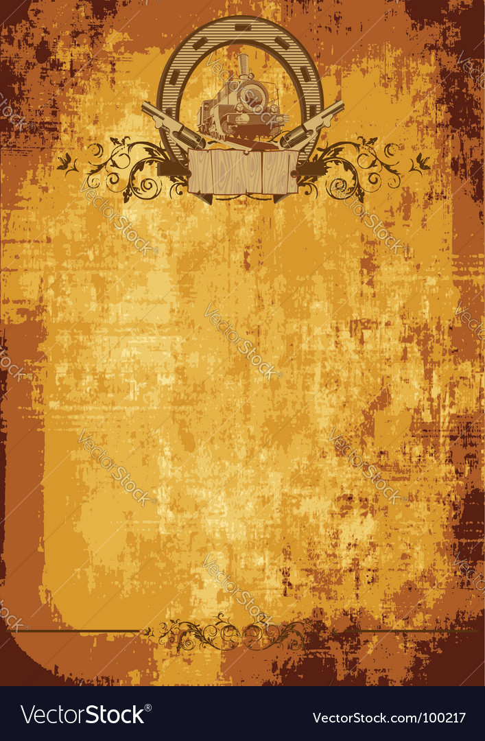 Wild west poster vector | Price: 1 Credit (USD $1)