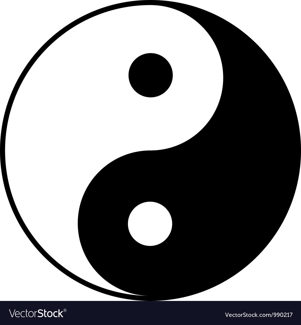 Yin-yang symbol vector | Price: 1 Credit (USD $1)