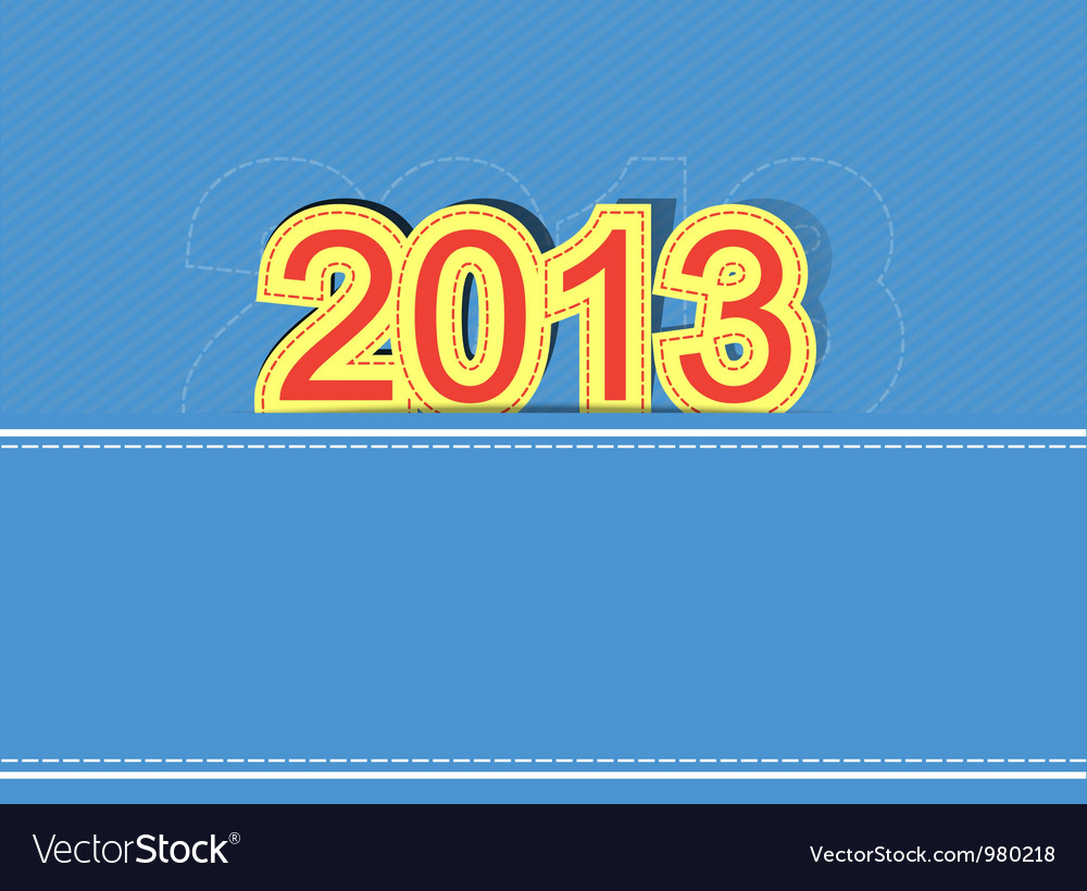 2013 new year design background vector | Price: 1 Credit (USD $1)