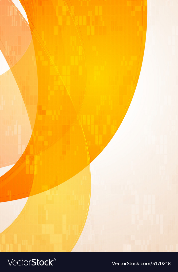 Abstract tech wavy orange background vector   Price: 1 Credit (USD $1)