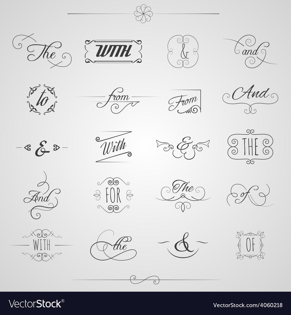 Catchwords decorative set vector | Price: 1 Credit (USD $1)