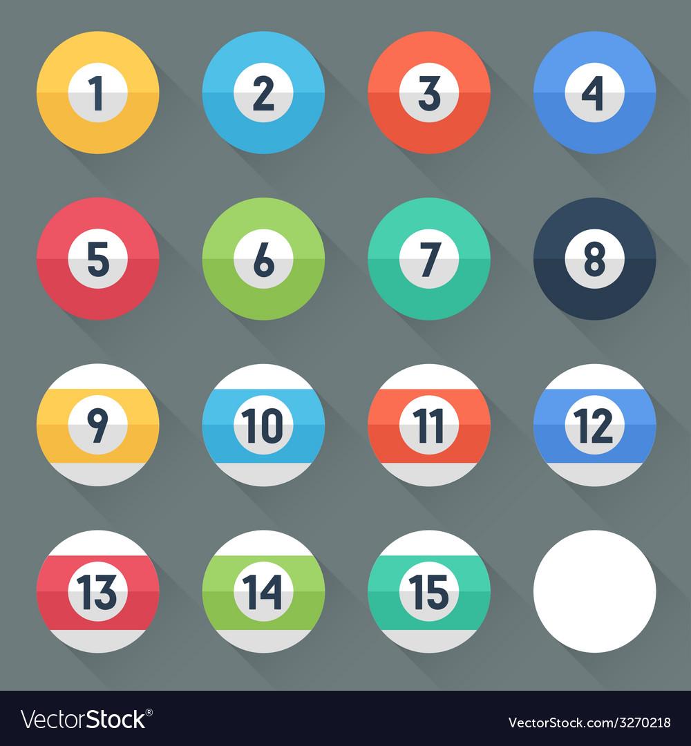 Colored pool balls vector | Price: 1 Credit (USD $1)