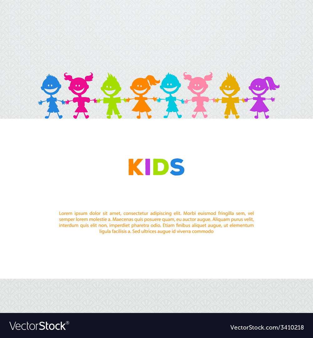 Colorful kids friends image vector | Price: 1 Credit (USD $1)
