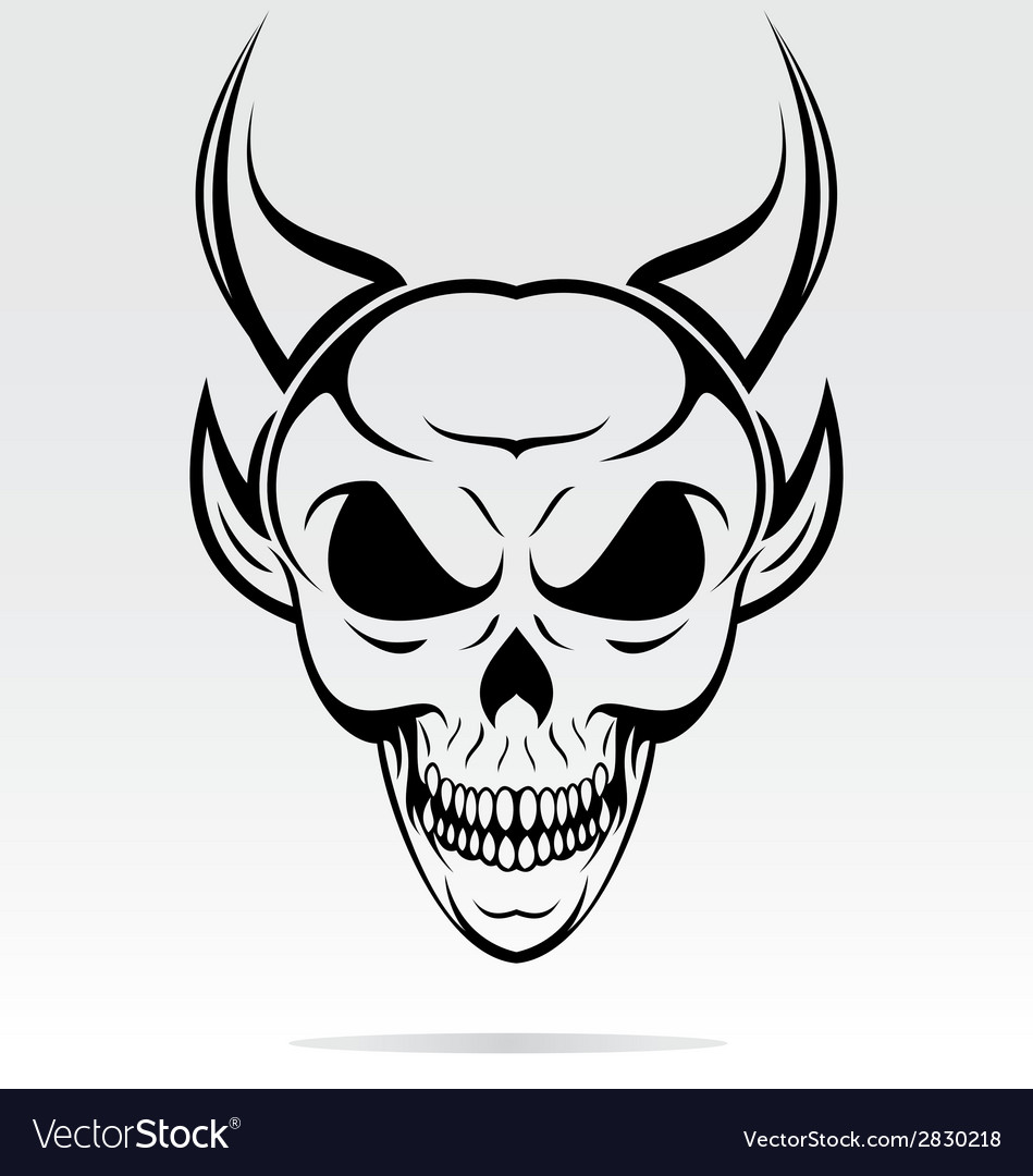 Devil skulls tribal vector | Price: 1 Credit (USD $1)