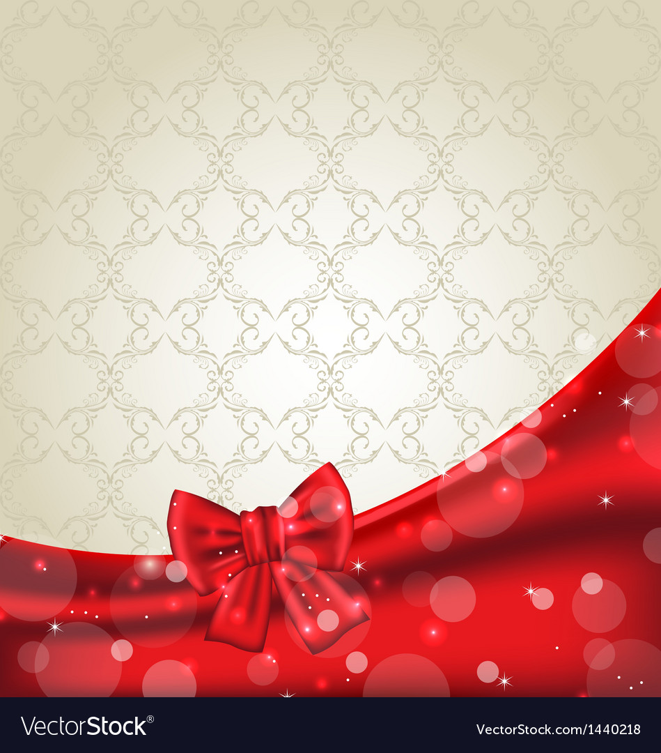 Elegance background with ribbon bow vector | Price: 1 Credit (USD $1)