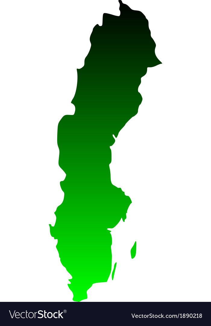 Map of sweden vector | Price: 1 Credit (USD $1)