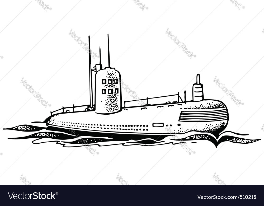 Nuclear powered submarine vector | Price: 1 Credit (USD $1)
