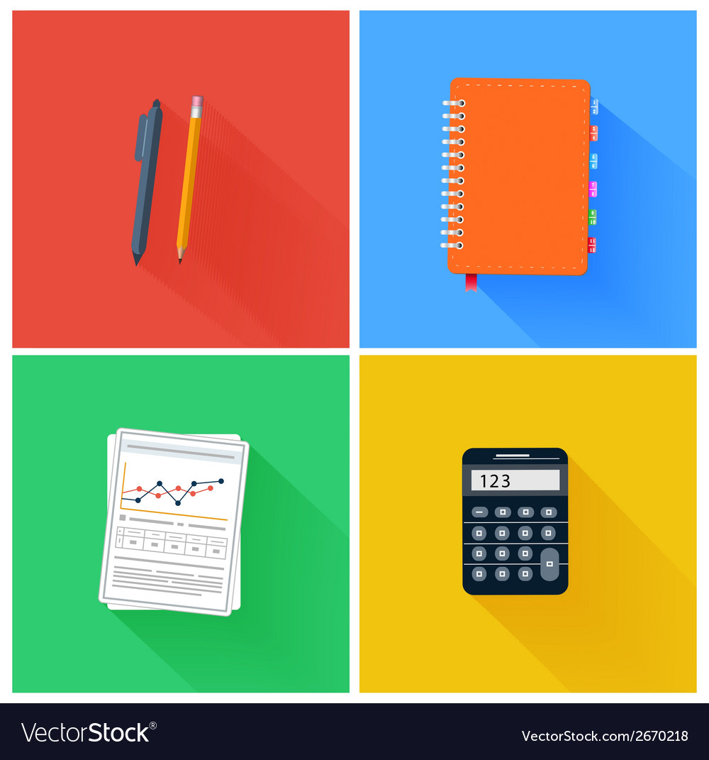 Office elements vector | Price: 1 Credit (USD $1)