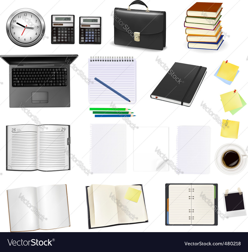 Office supplies vector | Price: 3 Credit (USD $3)