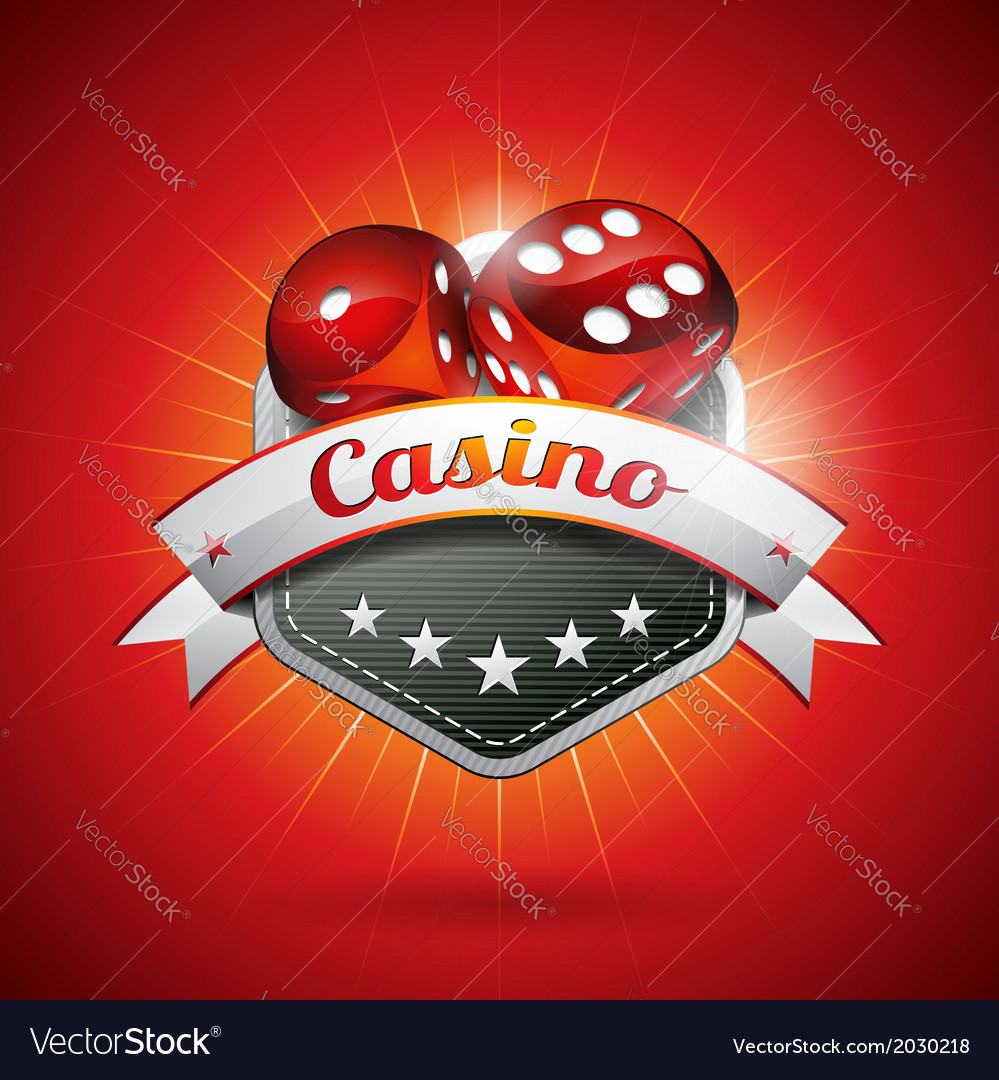 On a casino theme with dices vector | Price: 1 Credit (USD $1)