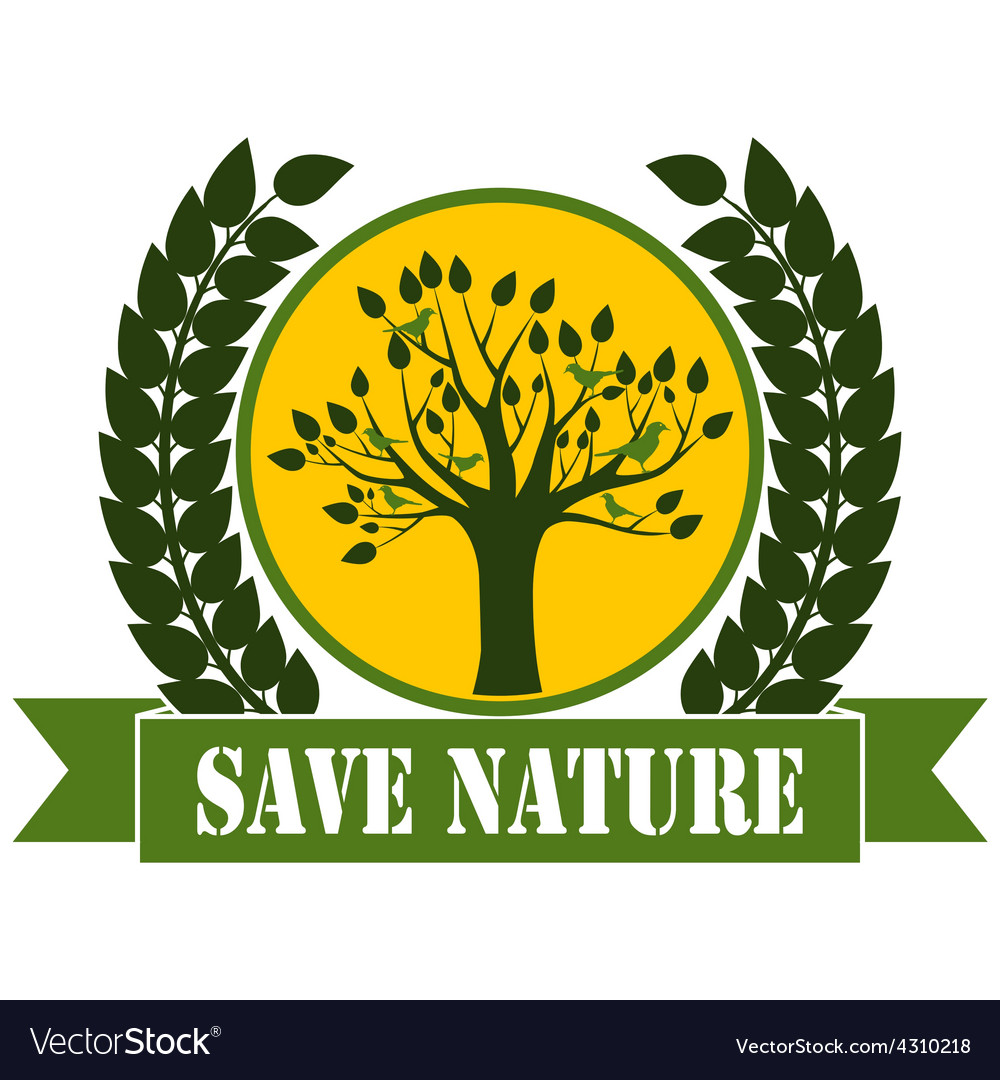 Save nature vector | Price: 1 Credit (USD $1)