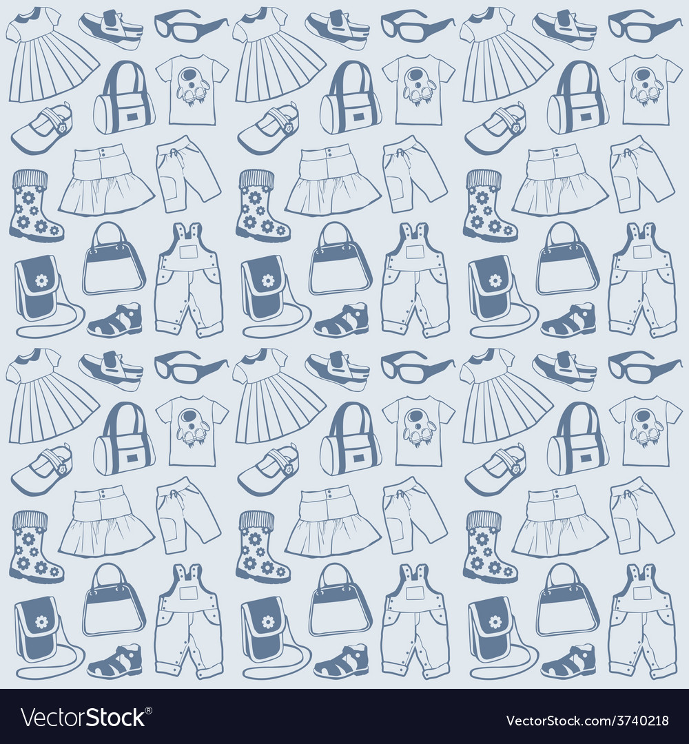 Seamless pattern clothes vector | Price: 1 Credit (USD $1)