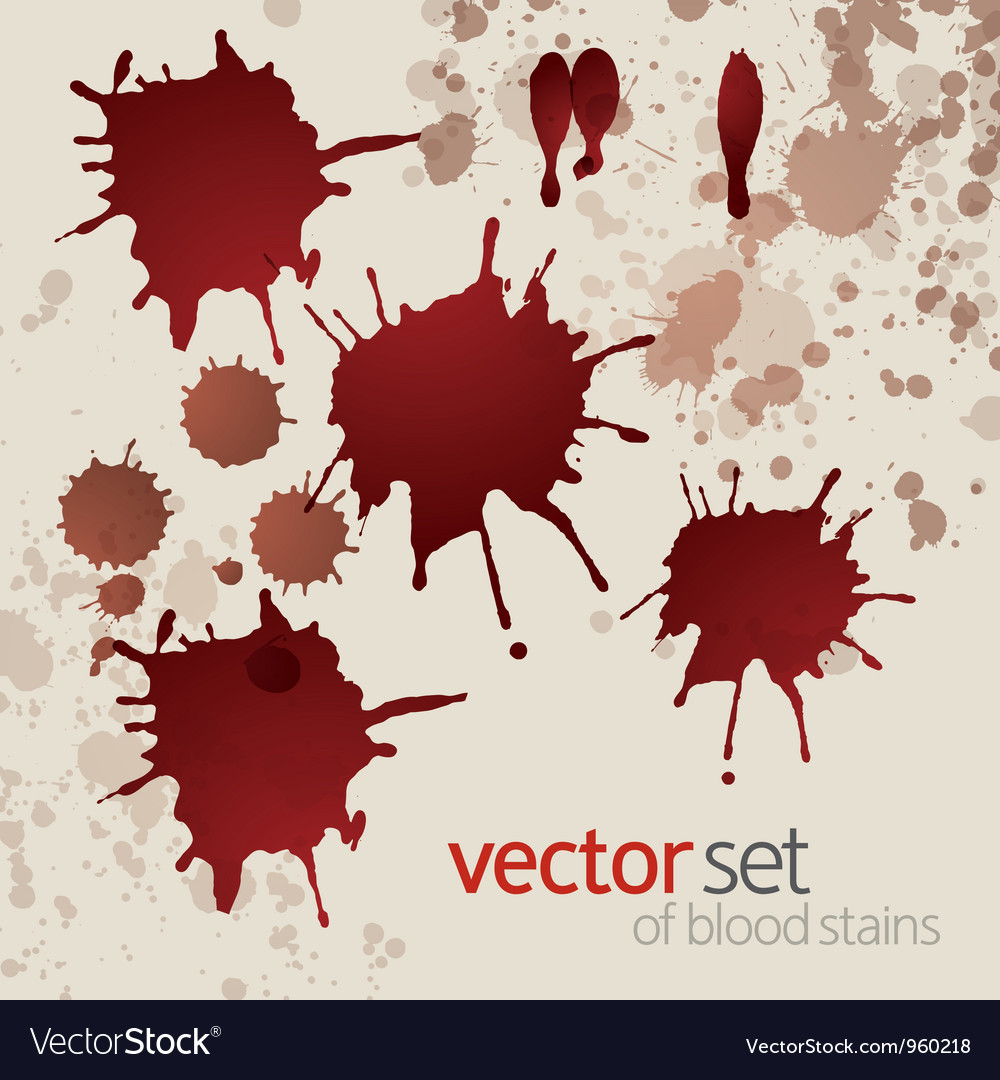 Splattered blood stains set 3 vector | Price: 1 Credit (USD $1)