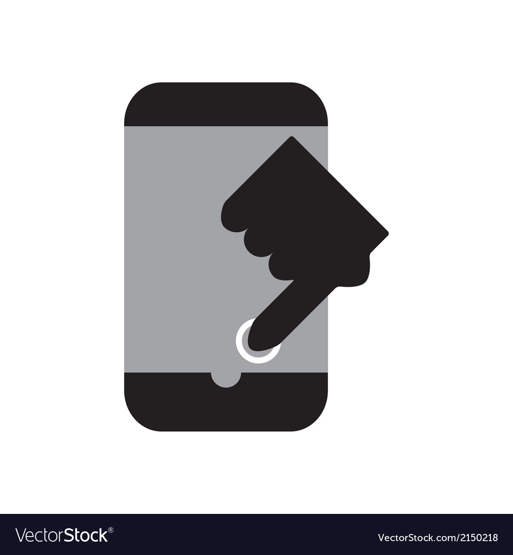 Touch smart phone vector | Price: 1 Credit (USD $1)