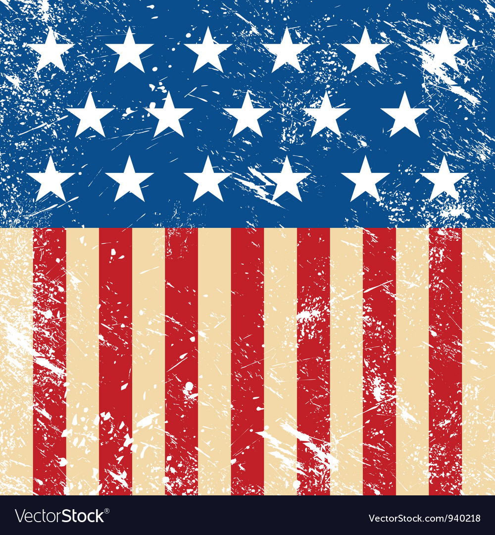 Usa retro flag vector | Price: 1 Credit (USD $1)