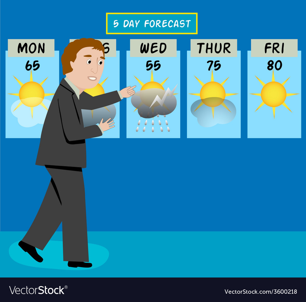 Weather man vector | Price: 1 Credit (USD $1)
