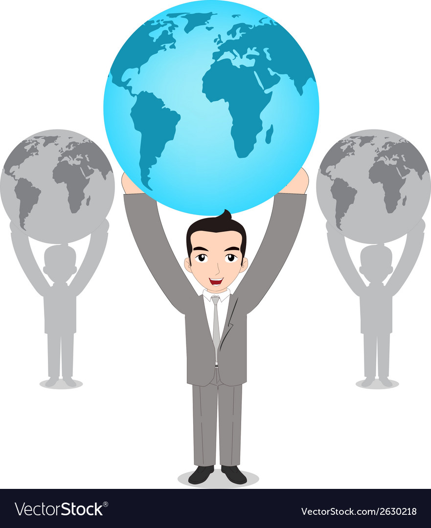 World in hands vector | Price: 1 Credit (USD $1)