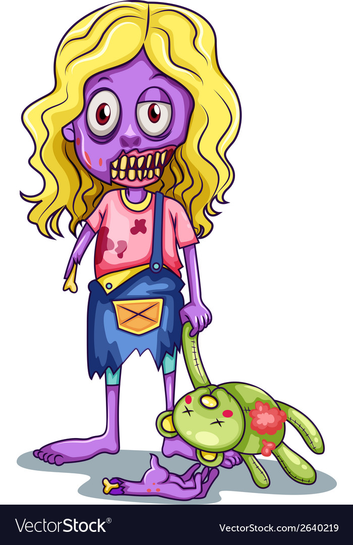 A young female zombie vector | Price: 1 Credit (USD $1)