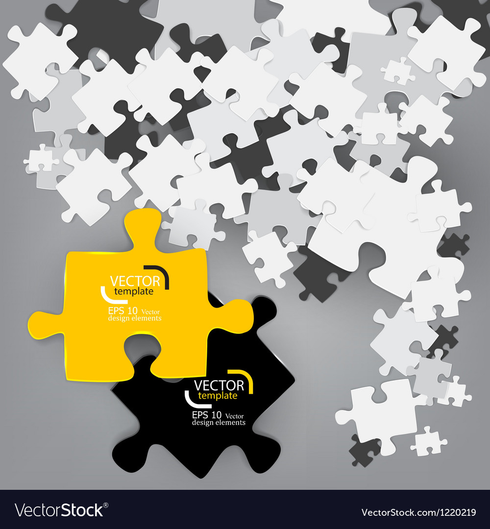 Abstract background made from puzzle pieces vector | Price: 1 Credit (USD $1)