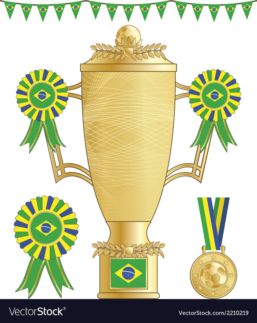 Brazil soccer trophy vector | Price: 1 Credit (USD $1)