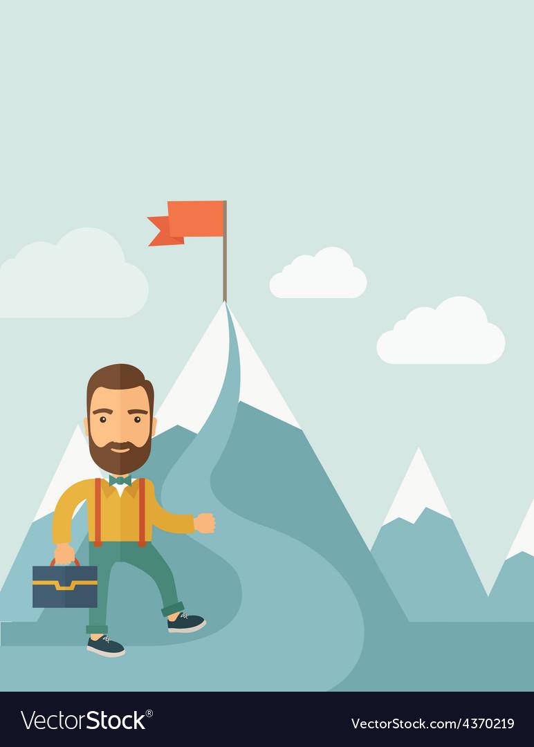 Businessman will climb to achieve success vector | Price: 1 Credit (USD $1)