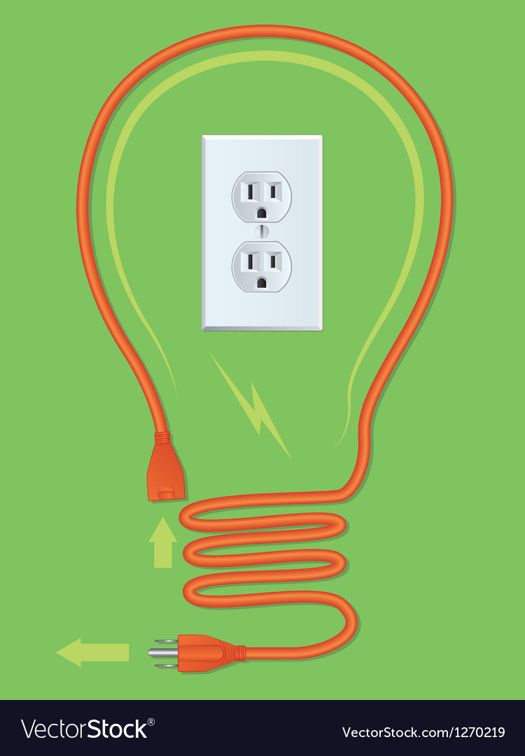 Cord bulb vector | Price: 1 Credit (USD $1)