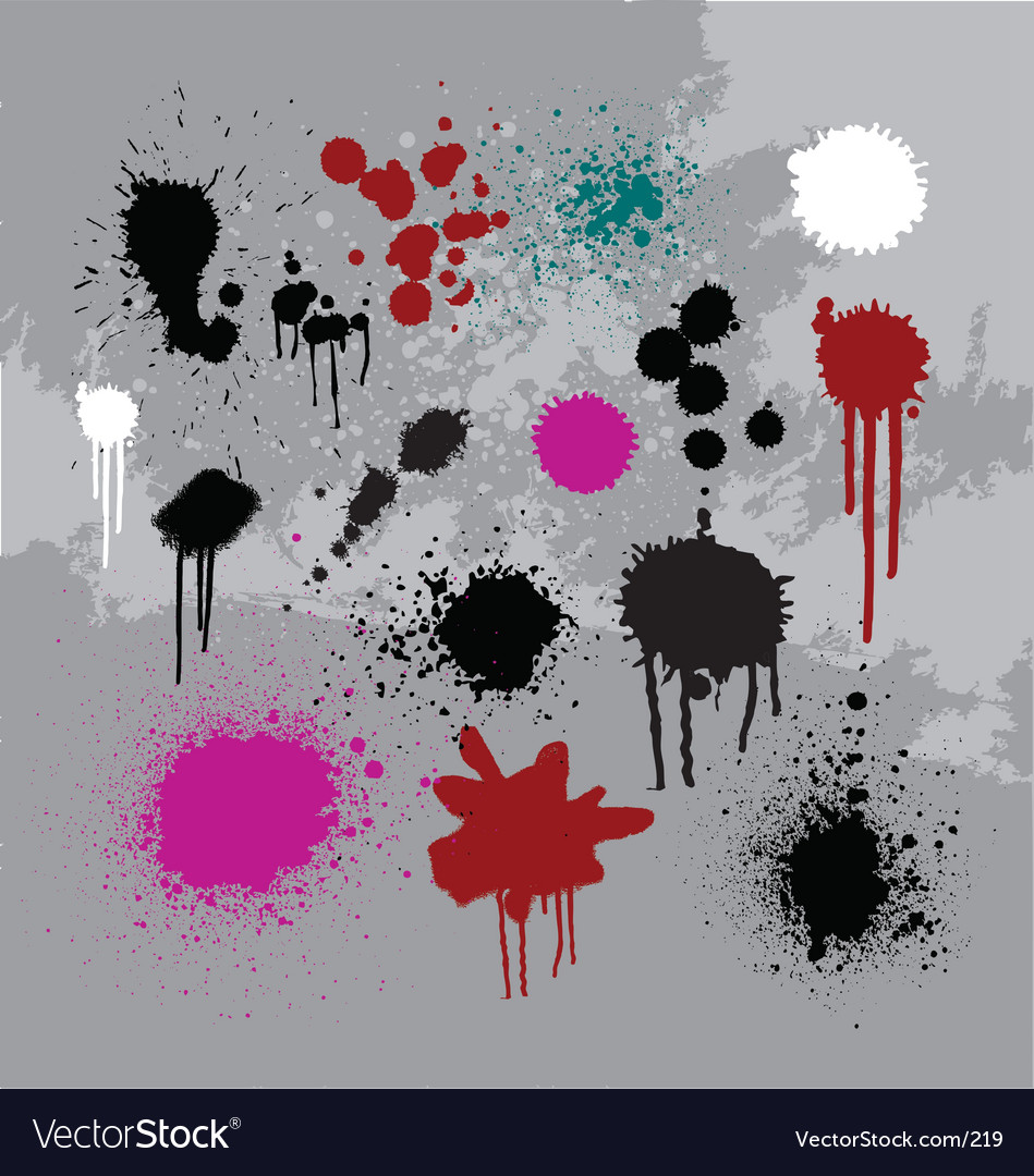 Drips drops and spray vector | Price: 1 Credit (USD $1)
