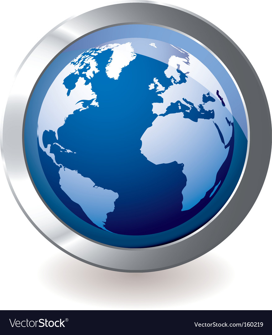 Icon earth globe vector | Price: 1 Credit (USD $1)