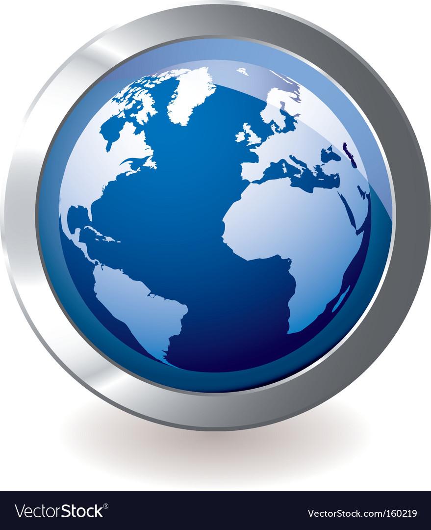 Icon earth globe vector   Price: 1 Credit (USD $1)