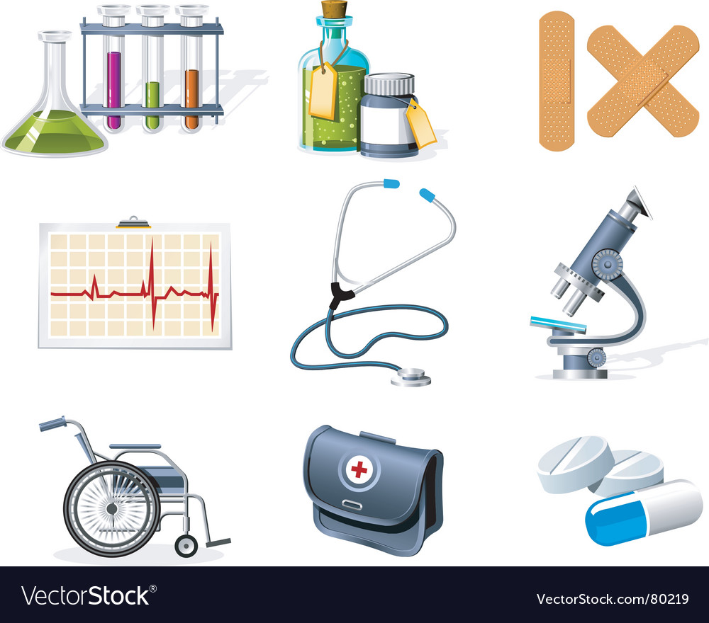 Medicine and healthcare icons vector | Price: 5 Credit (USD $5)