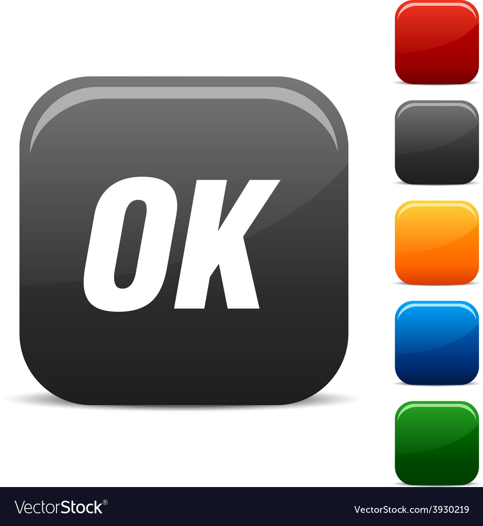 Ok icons vector | Price: 1 Credit (USD $1)
