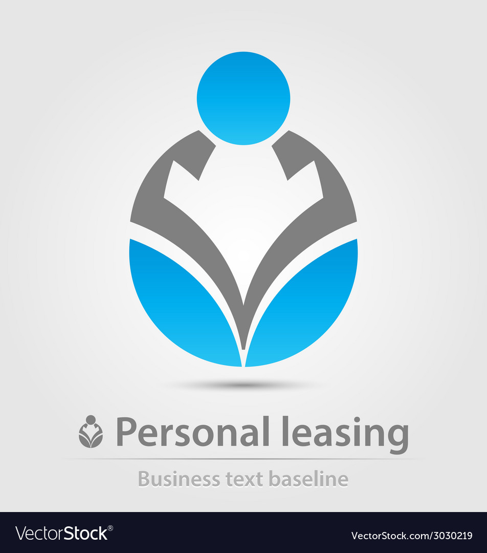 Personal leasing business icon vector | Price: 1 Credit (USD $1)