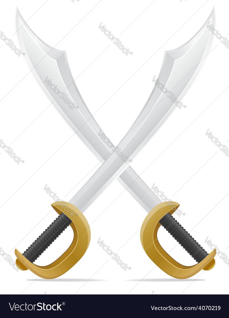 Pirate sword 02 vector | Price: 3 Credit (USD $3)