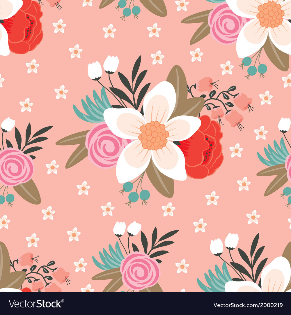 Reamless floral pattern vector | Price: 1 Credit (USD $1)