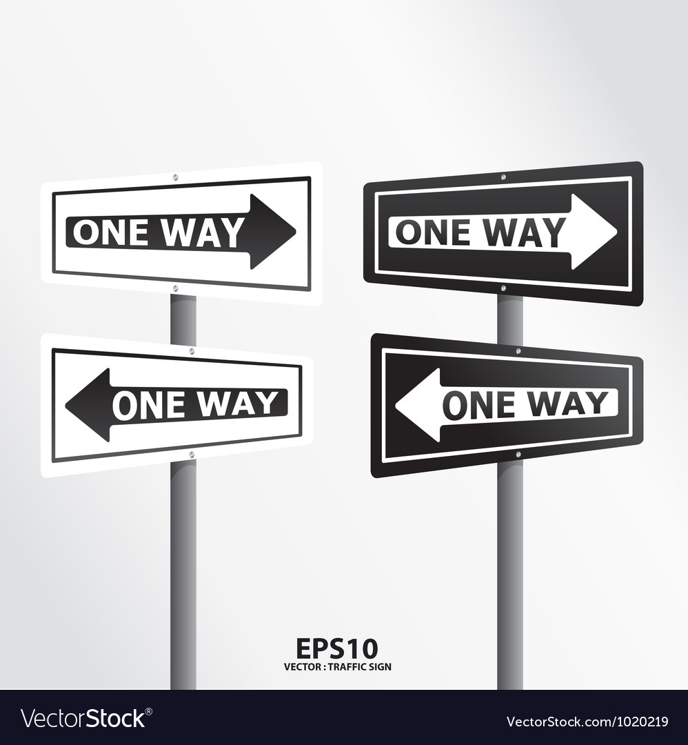 Traffic sign one way vector | Price: 1 Credit (USD $1)