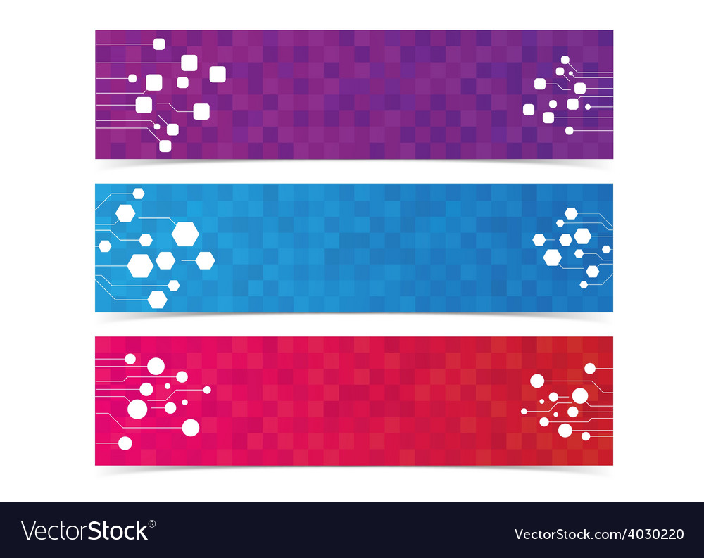 Abstract digital internet network graphic banner vector | Price: 1 Credit (USD $1)