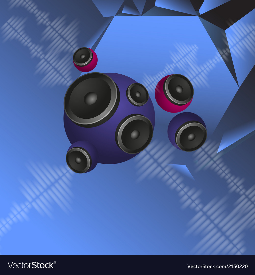 Abstract music background with round speakers vector | Price: 1 Credit (USD $1)