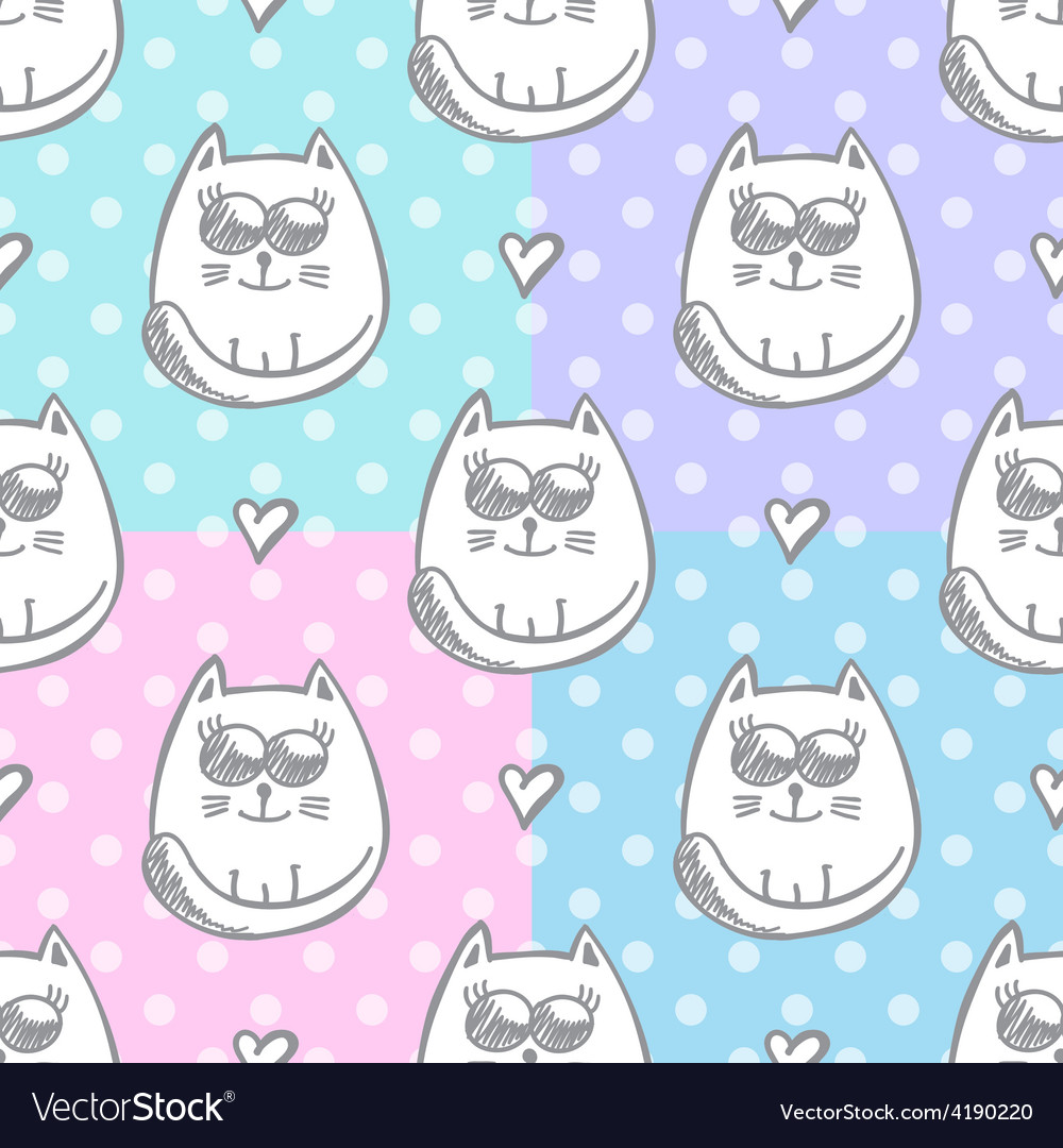 Cat and heart vector | Price: 1 Credit (USD $1)