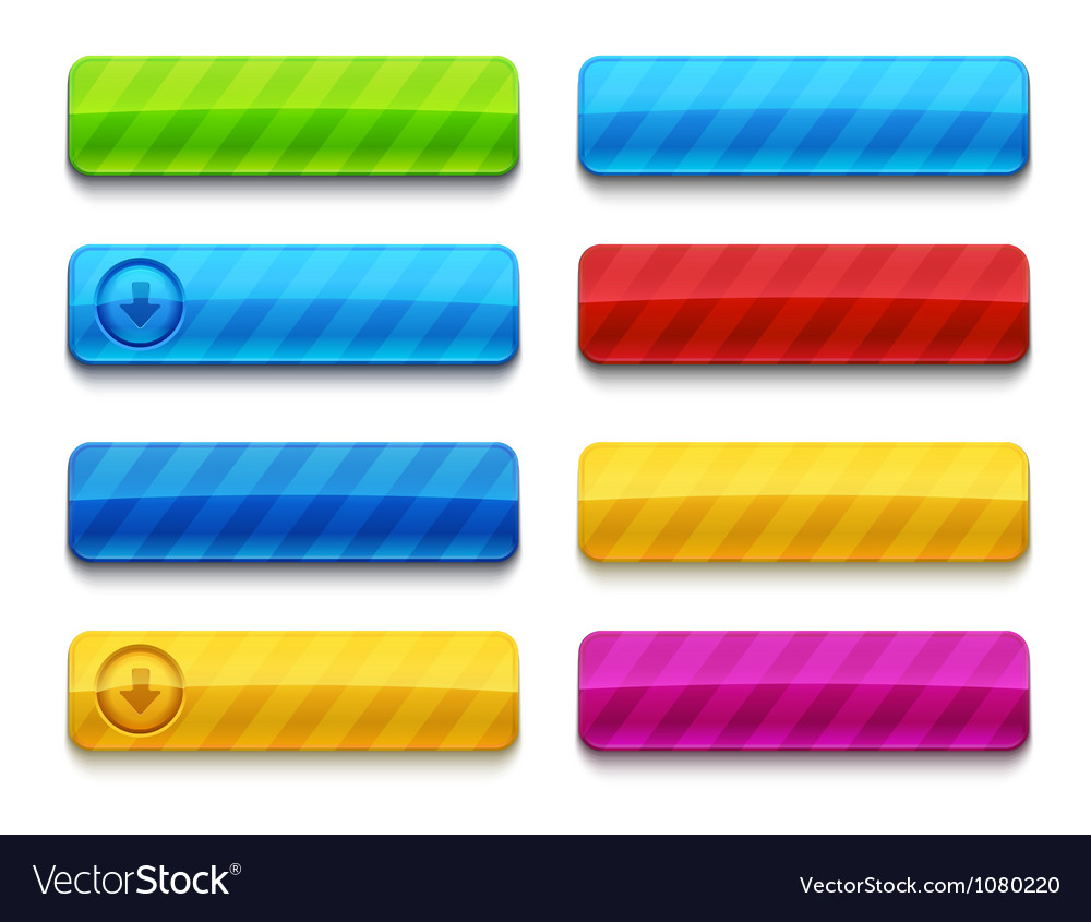 Colorful blank premium web buttons vector | Price: 1 Credit (USD $1)