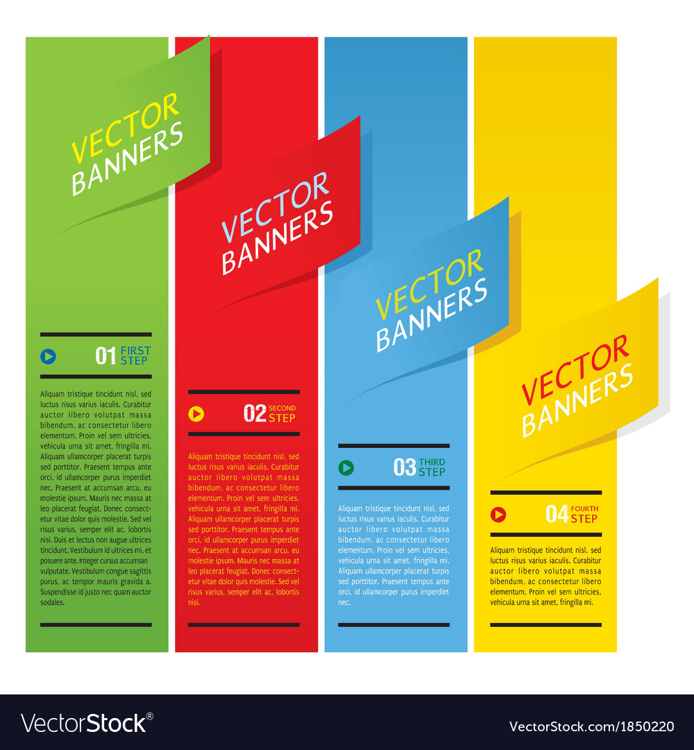 Colorful vertical banners vector | Price: 1 Credit (USD $1)