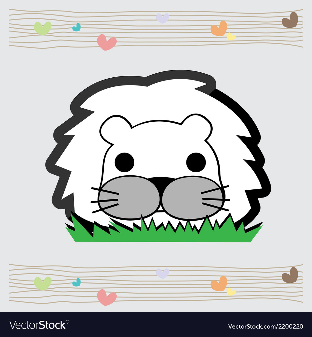 Cute little lion vector | Price: 1 Credit (USD $1)