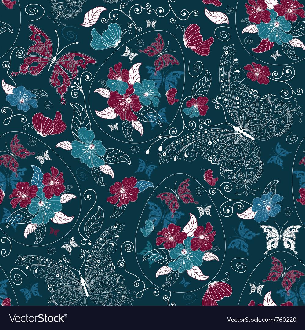 Ester floral pattern vector | Price: 1 Credit (USD $1)
