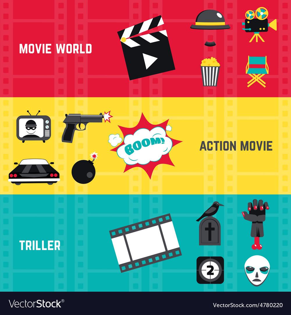 Film banner set vector | Price: 3 Credit (USD $3)