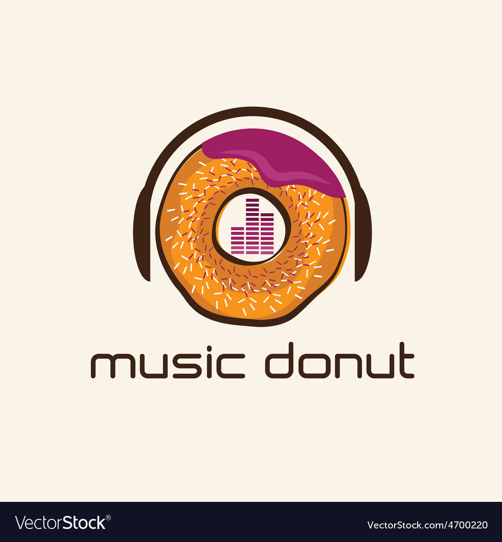 Music donut concept design template vector | Price: 1 Credit (USD $1)