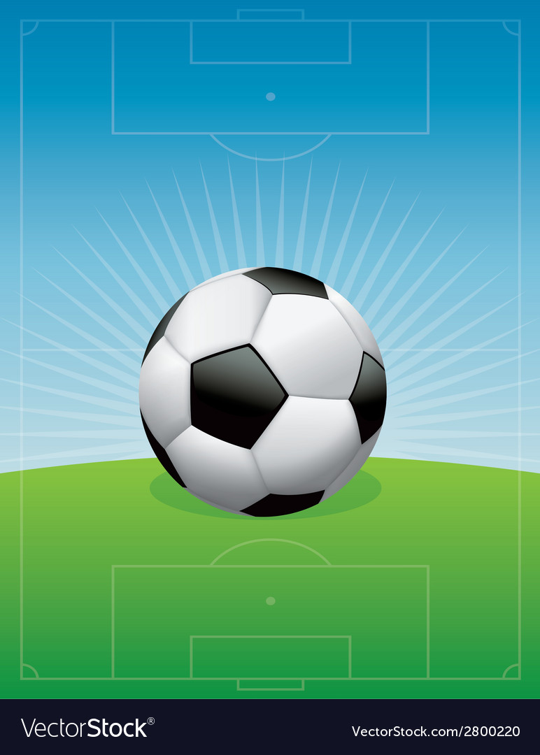 Soccer ball and field vector | Price: 1 Credit (USD $1)