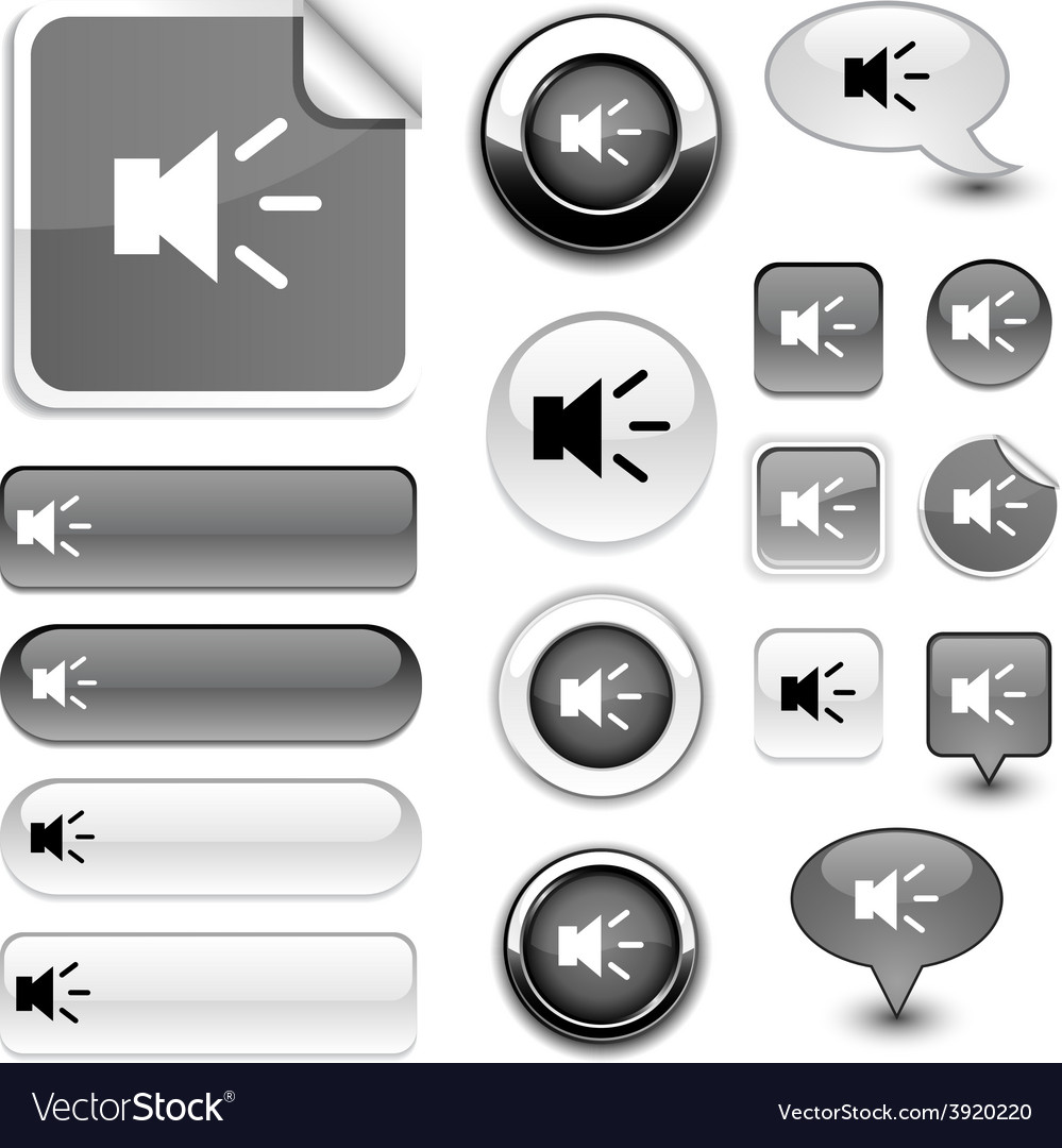 Sound signs vector | Price: 1 Credit (USD $1)